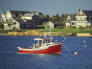 Fishing boat on the waters of Rhode Island