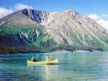 Paddling in Yukon's wilderness