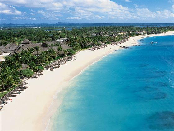 Aerial view of the beach at Ambre Resort & Spa