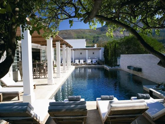 Pool area at The Steenberg Hotel
