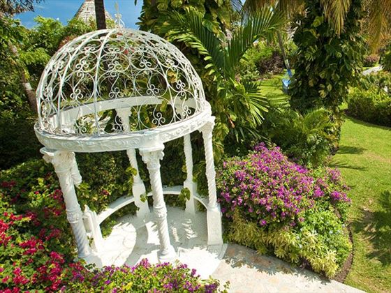 The wedding gazebo at Sandals Grande Antigua