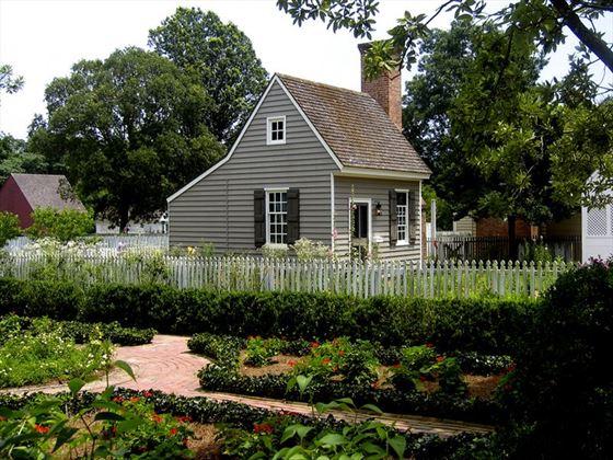 Servants' quarters at a colonial Williamsburg property