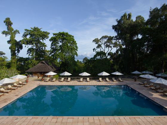 Spacious swimming pool and terrace at The Datai