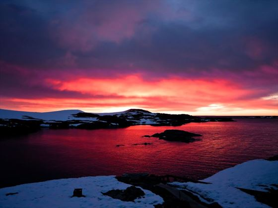 Sunset in the Antarctic