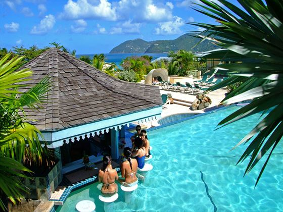 Swim-up bar at Long Bay Beach Resort and Villas