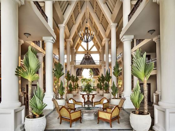 The Residence Mauritius lobby
