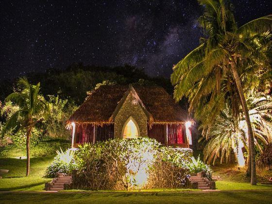 Tokoriki's chapel at night