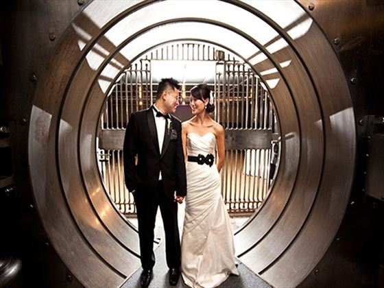 Bride & Groom in the vault