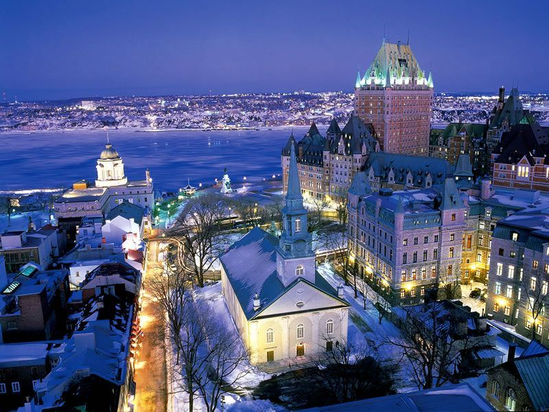 Quebec City at night, Quebec