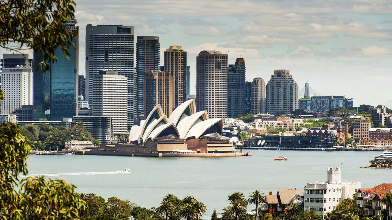 Sydney Harbour view from Taronga Zoo
