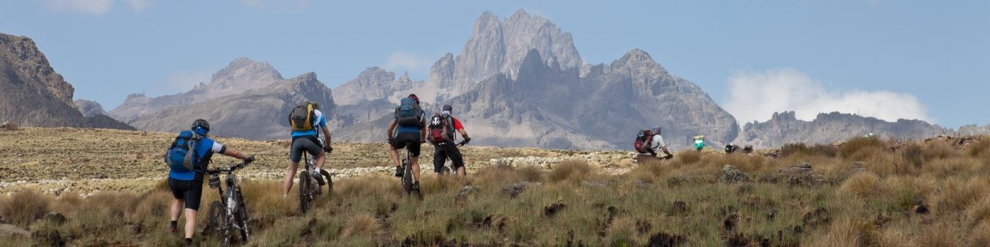 Getty mountain biking in Mt Kenya National Park