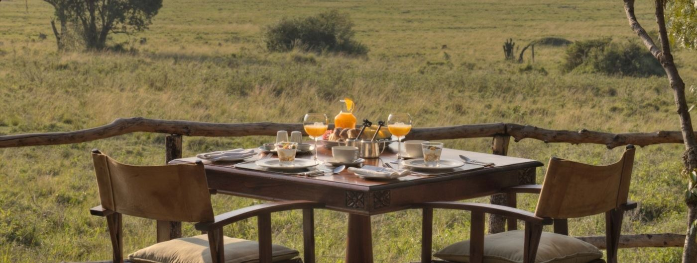 andBeyond Bateleur Camp breakfast al fresco