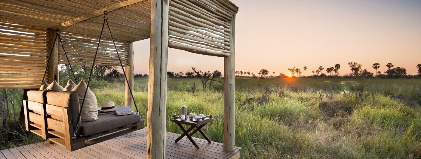 andBeyond Nxabega Okavango Tented Camp tented suite views