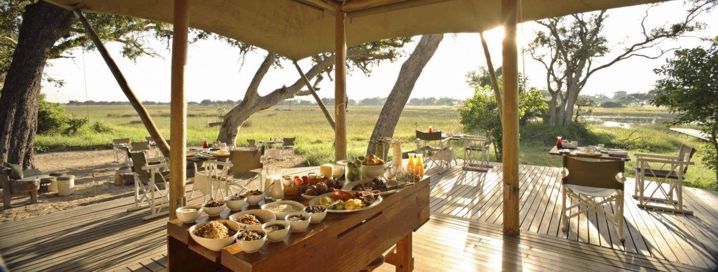 andBeyond Xaranna Okavango Delta Camp guest area