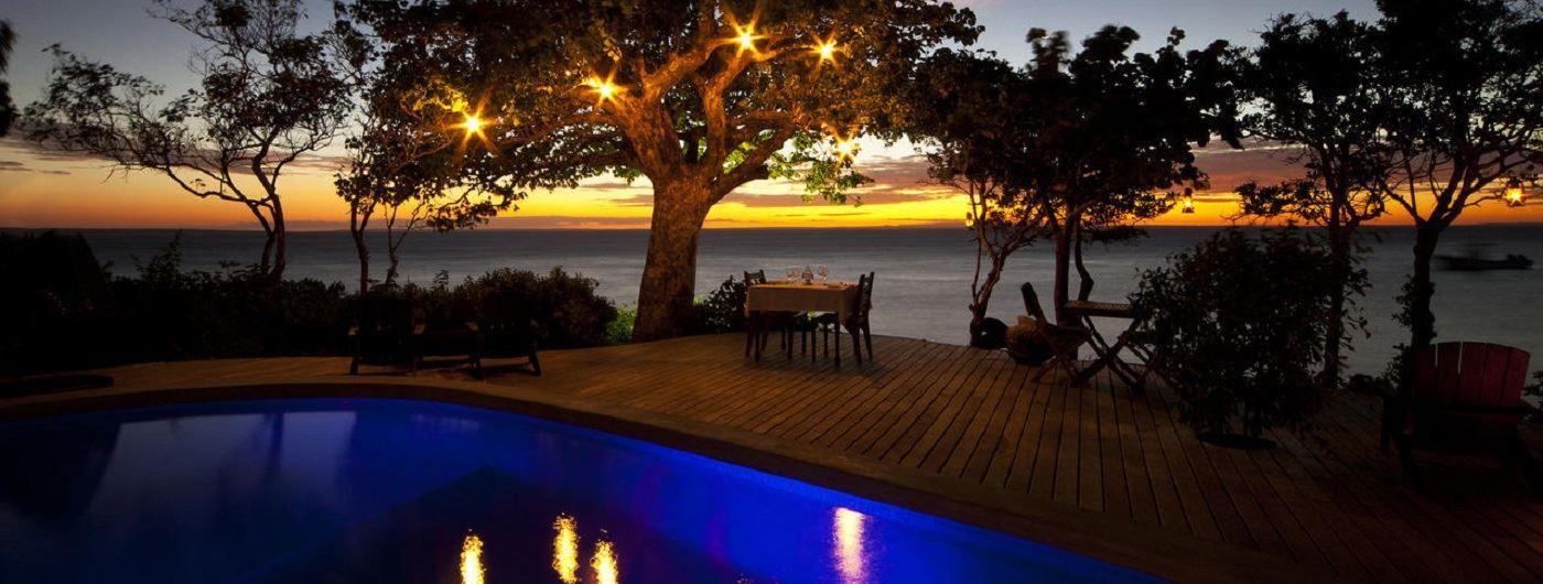 Azura at Quilalea sunset dinner