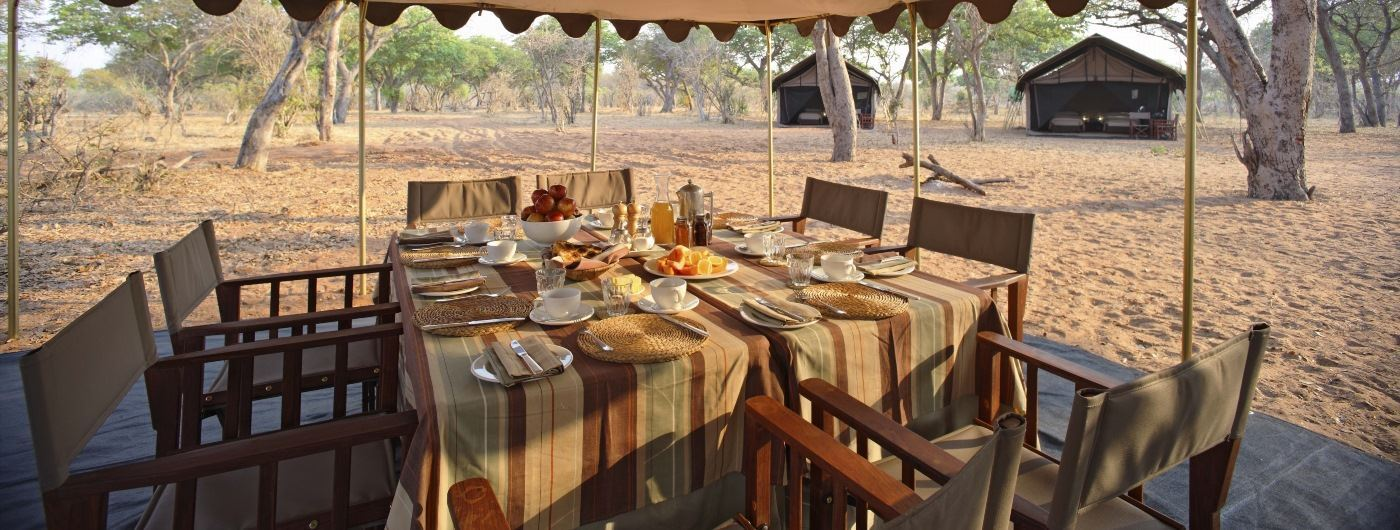 andBeyond Chobe Under Canvas guest area