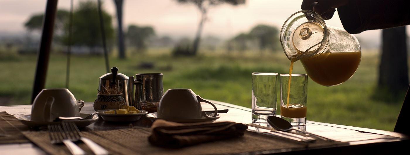 Dunia Camp breakfast