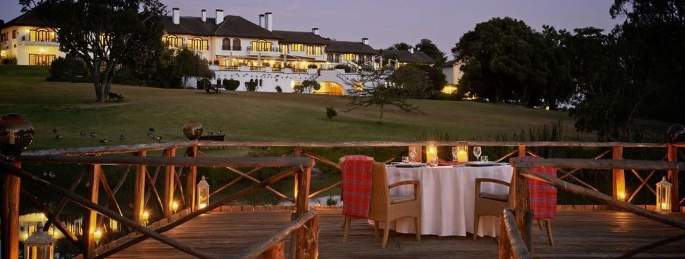 Fairmont Mount Kenya Safari Club exterior and dining deck