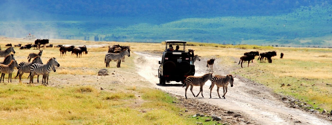 Safari vehicle in Ngorongoro