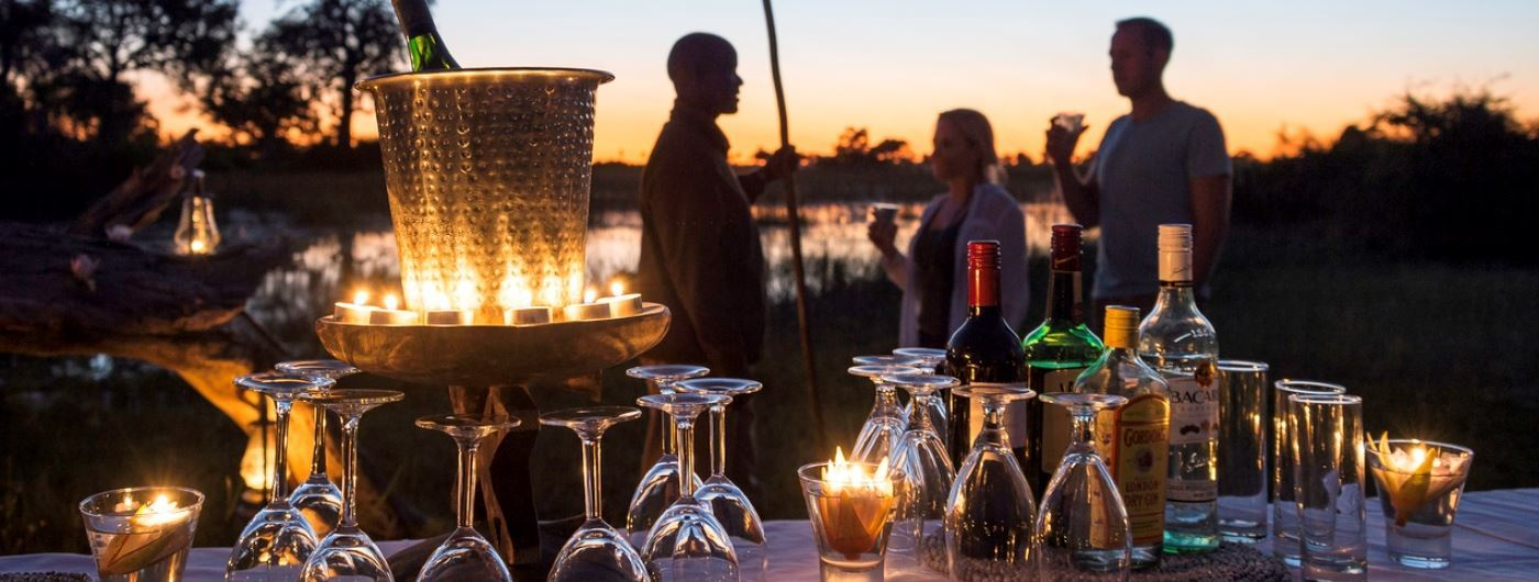 Jacana Camp sundowners