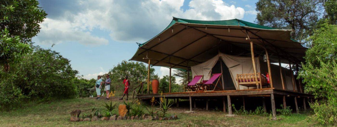 Karen Blixen Camp guest tent exterior