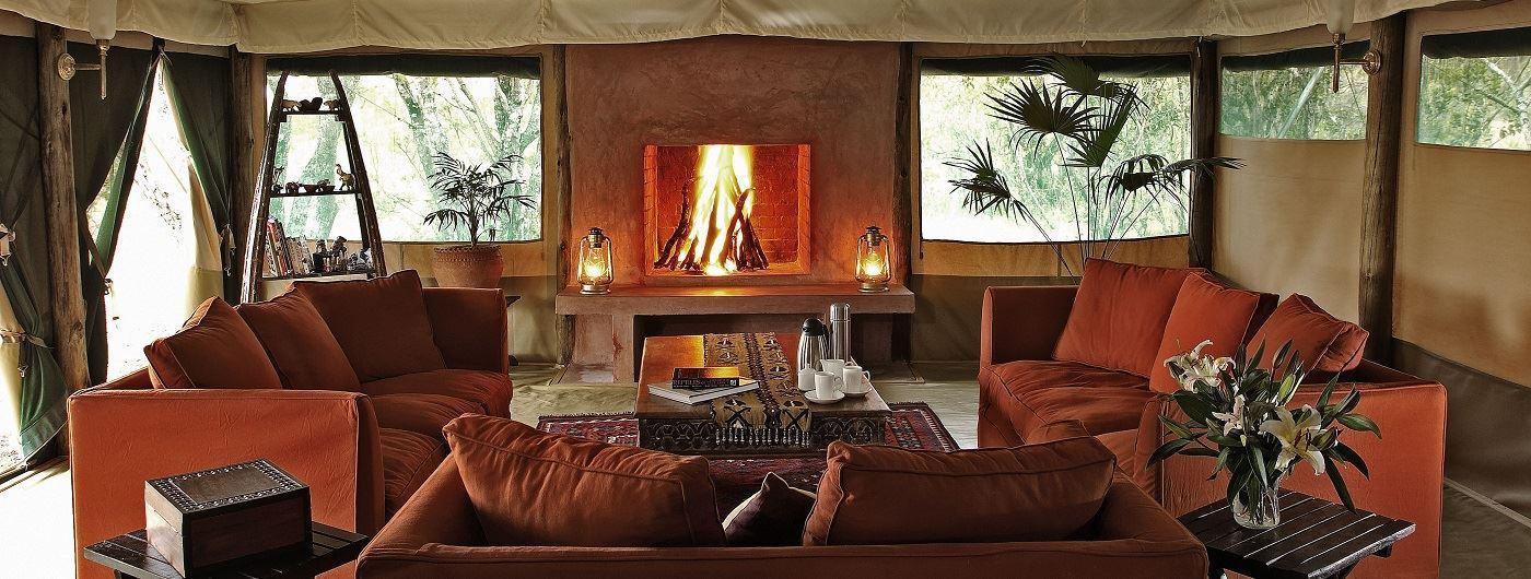 Kicheche Laikipia lounge area