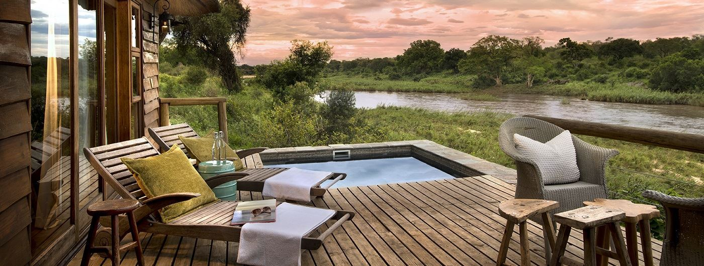Lion Sands Narina Lodge private decking and plunge pool