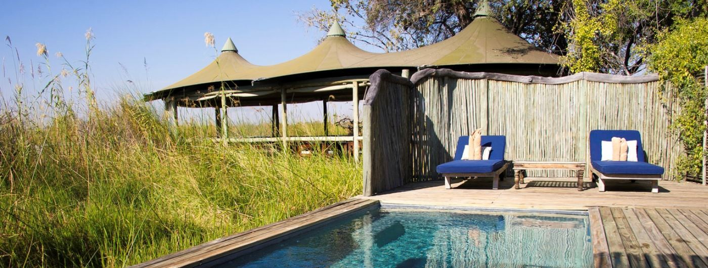 Little Vumbura Camp plunge pool