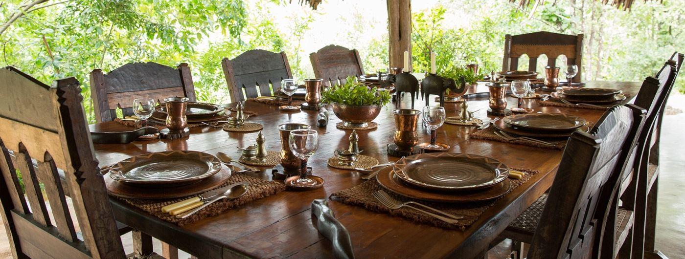 Mukutan Retreat dining