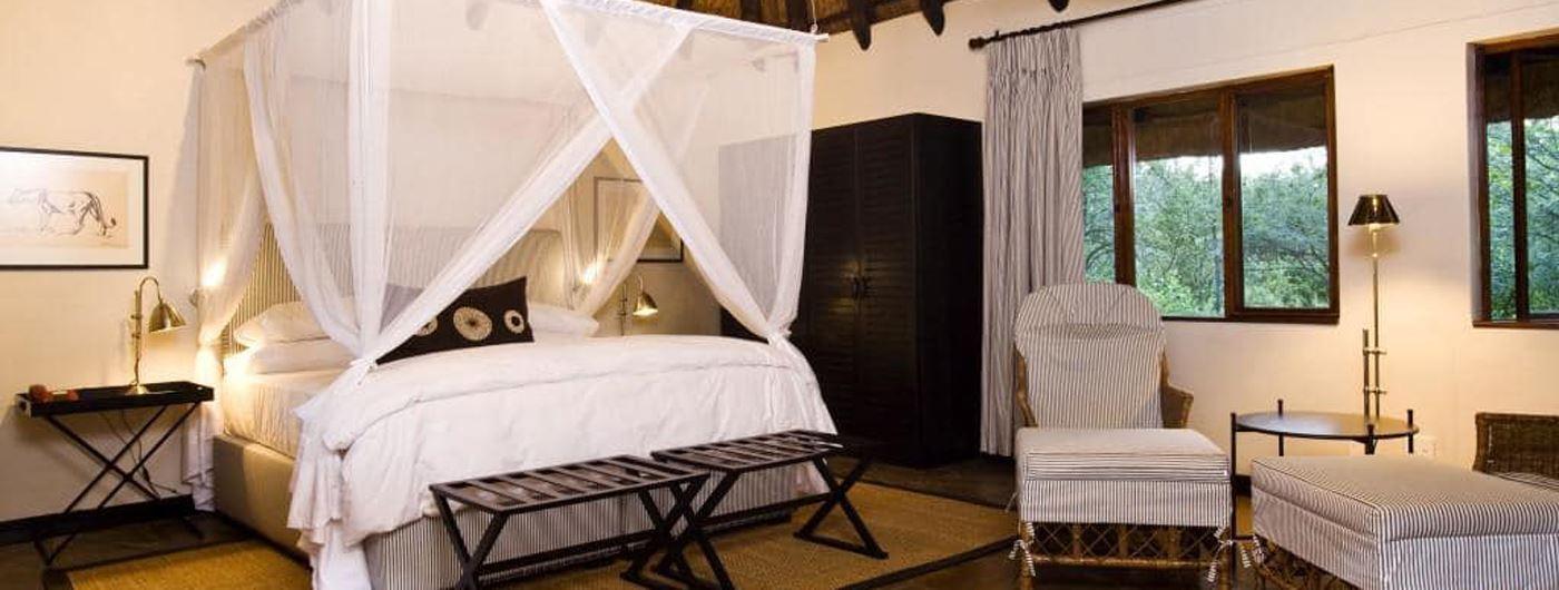 The room interiors at Mushara Lodge