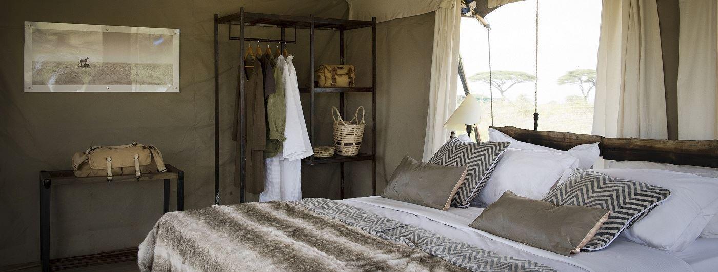 Tent bedroom interior