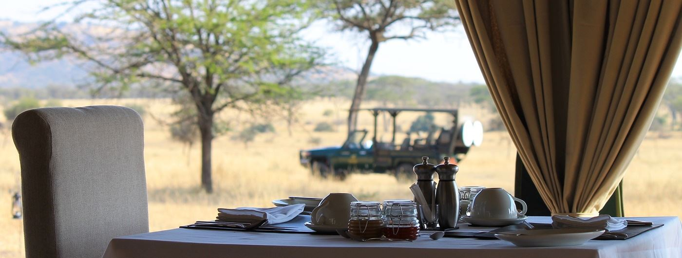 Dining tent at Nimali Central Serengeti