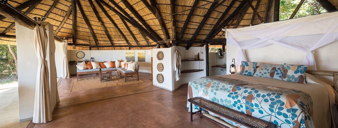 Nkwali Camp chalet interior