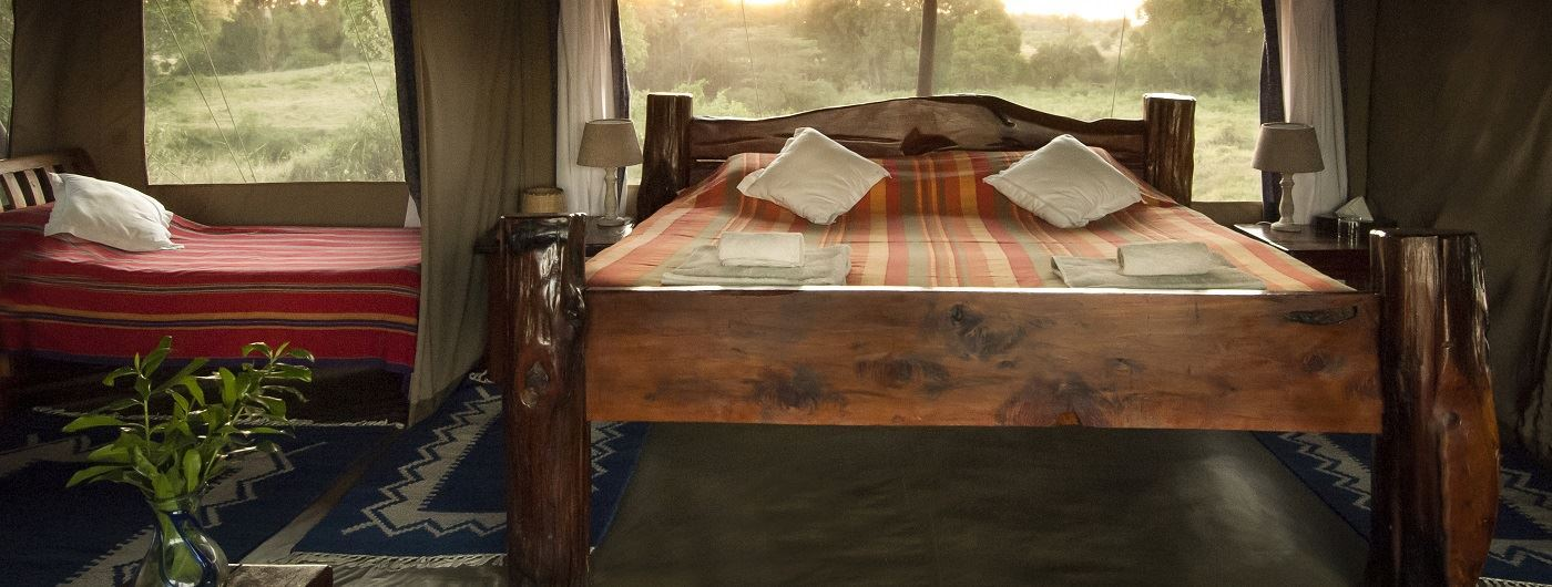 Offbeat Mara tent interior