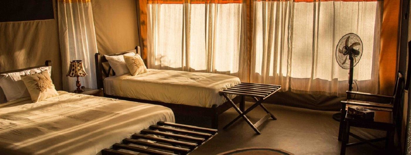 Porini Cheetah Camp guest tent interior
