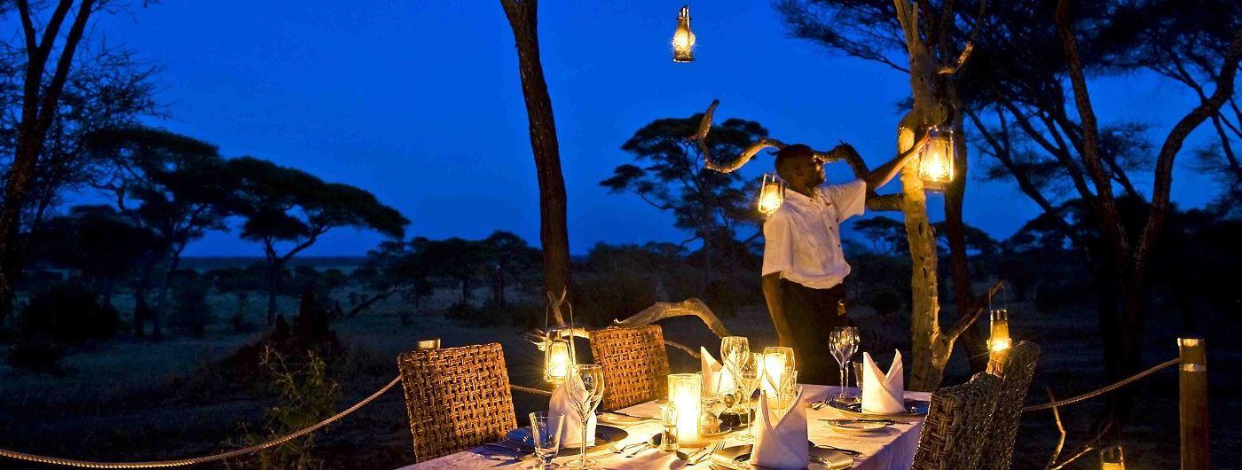 Lantern lit dinner