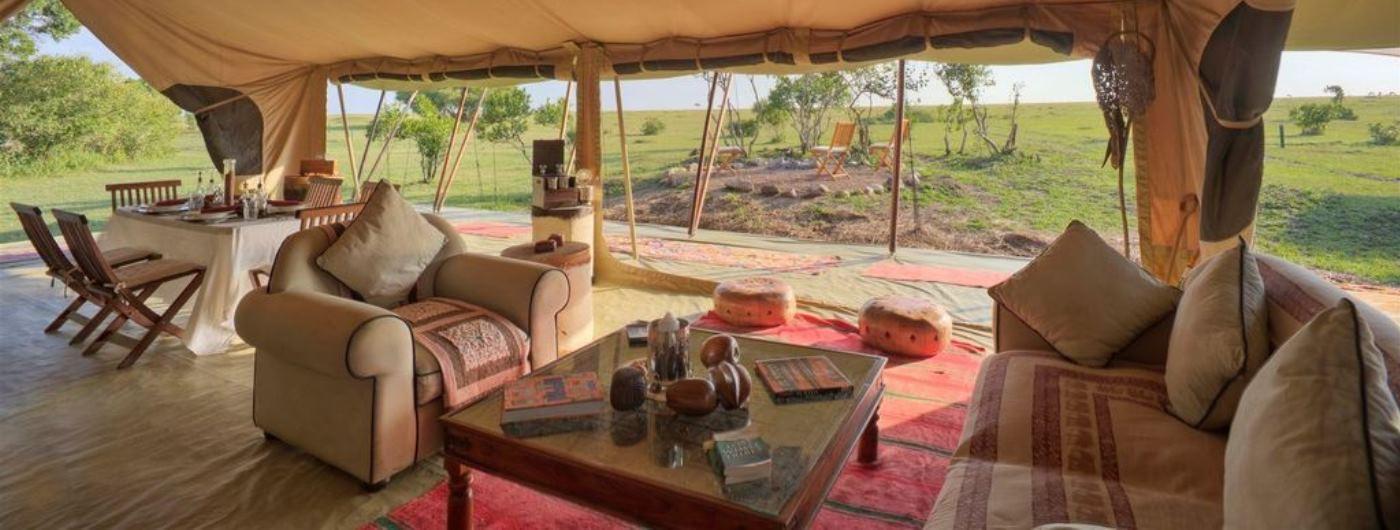 Saruni Wild family tent separate lounge