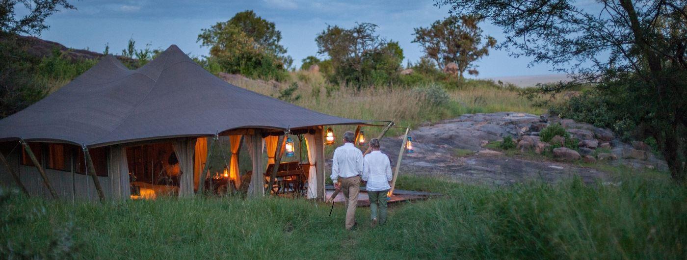 Serengeti Pioneer Camp tent exterior