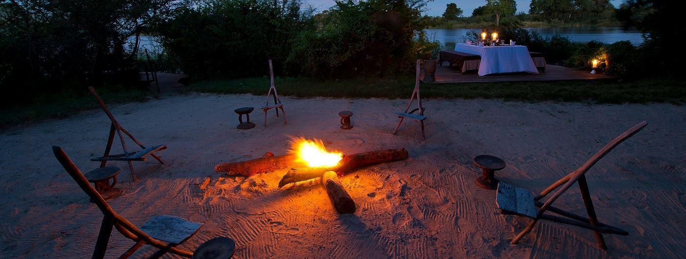 Sindabezi Island Camp campfire
