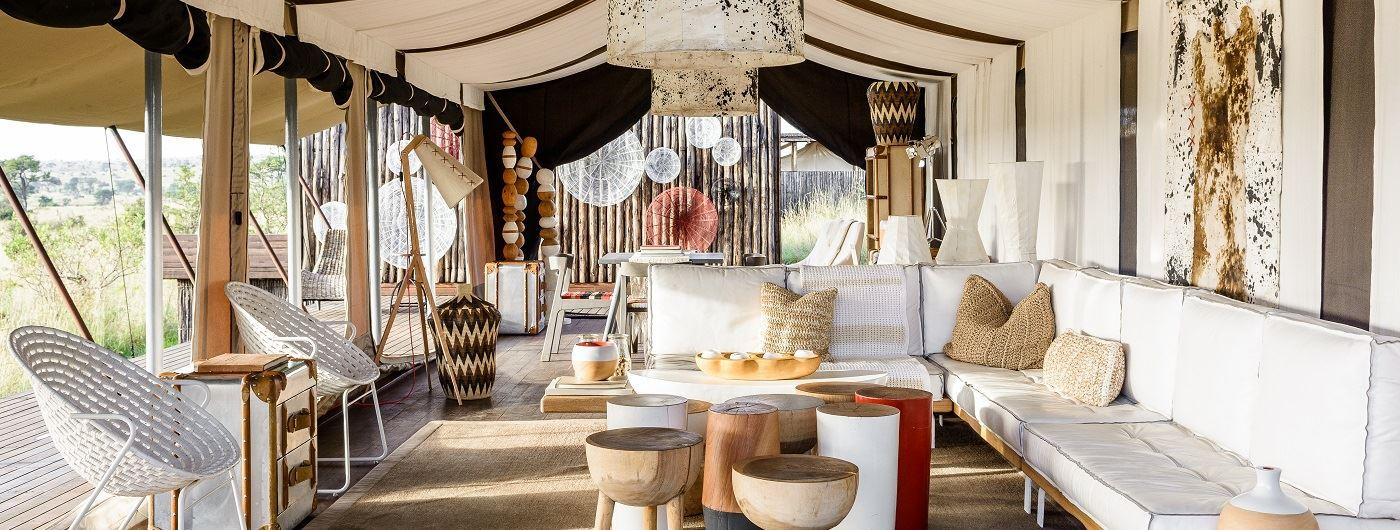 Singita Mara River Tented Camp main lounge