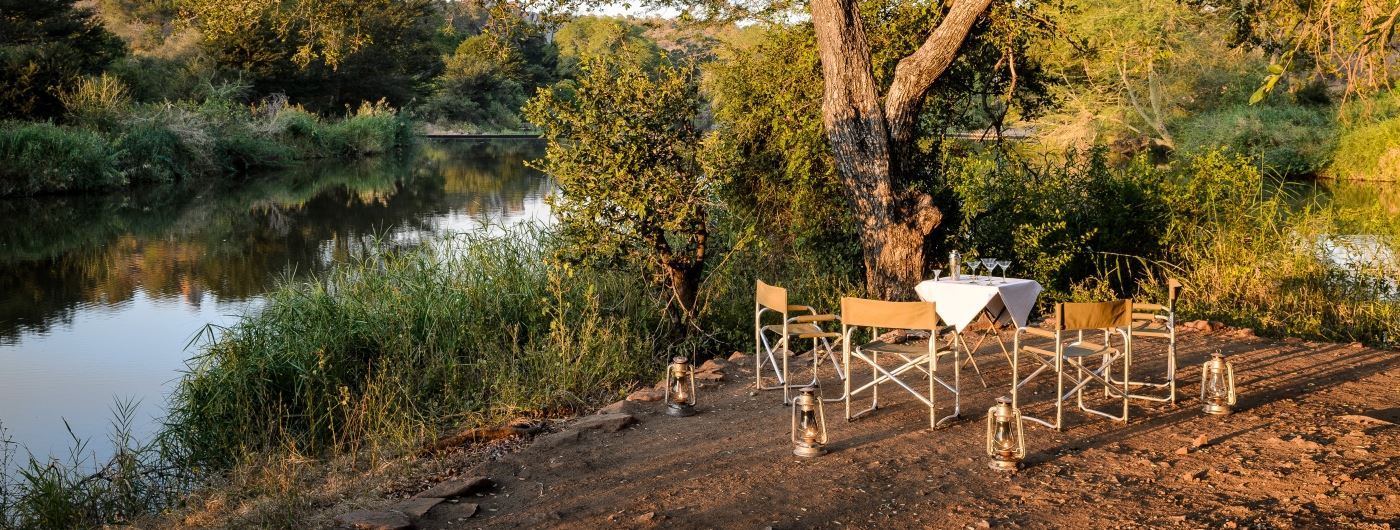 Singita Sweni Lodge bush dining