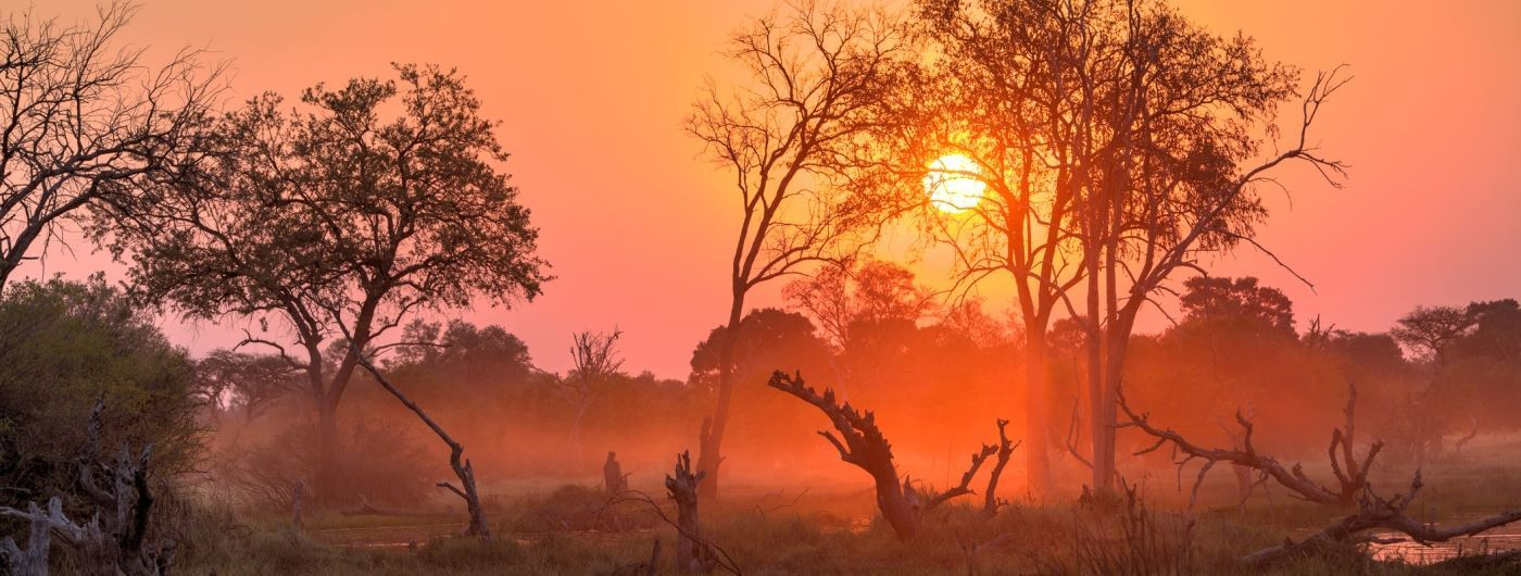 Sunset in Botswana