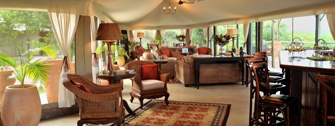 The Elephant Camp main lounge area