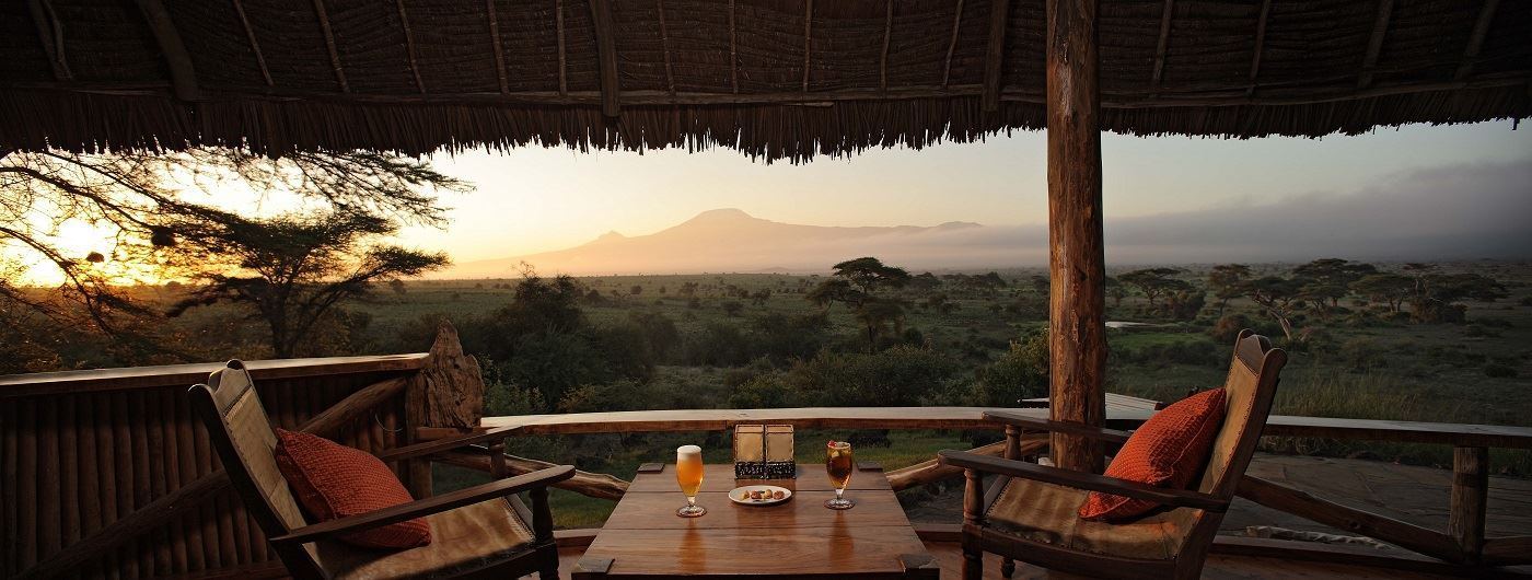 Sundowners at Elewana Tortilis Camp