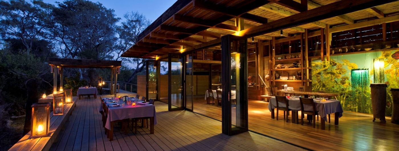 Vumbura Plains Camp decking for dining