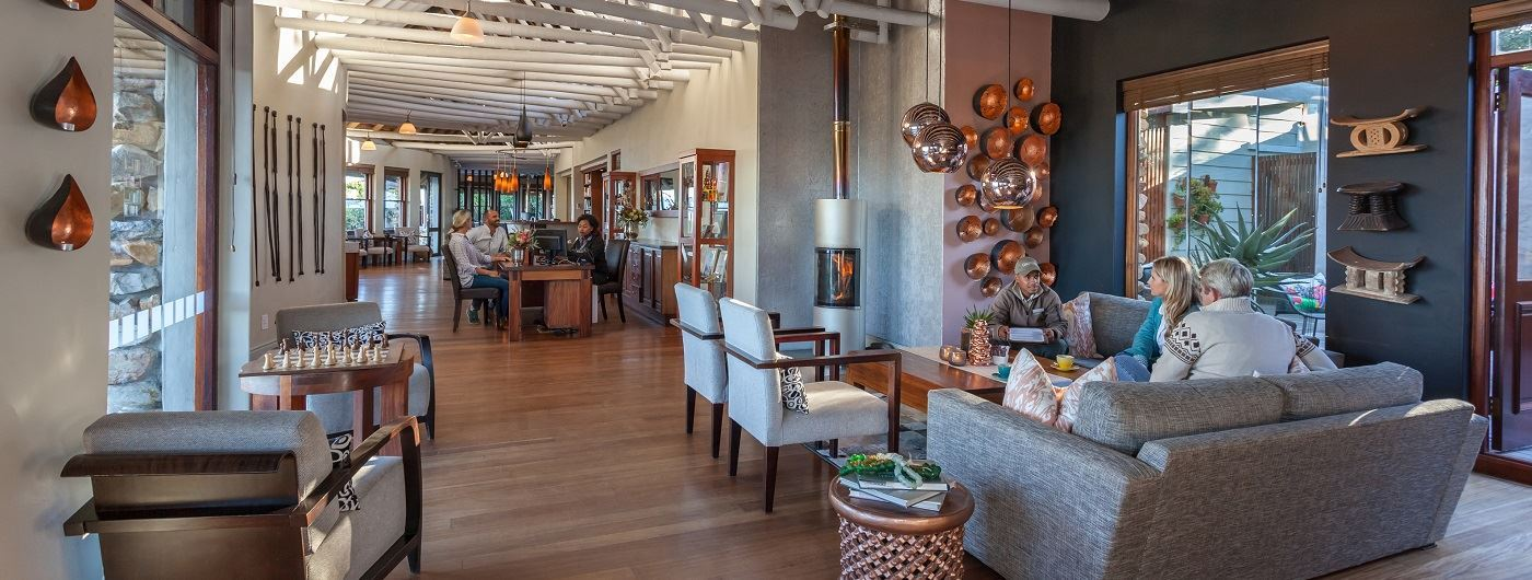 Grootbos Garden Lodge lounge