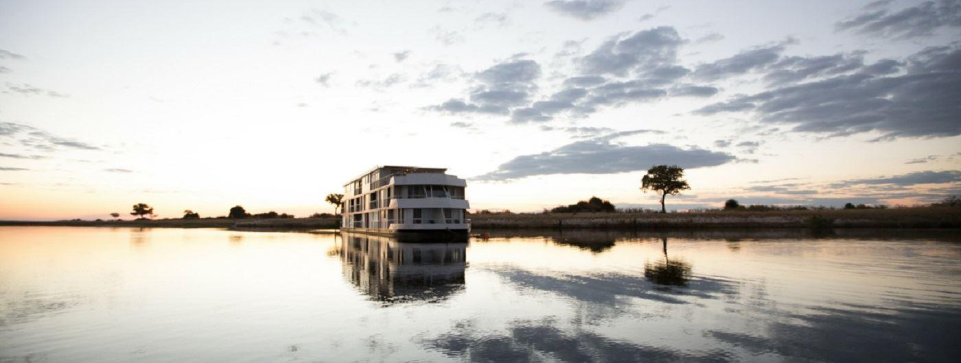 Zambezi Queen at sunset