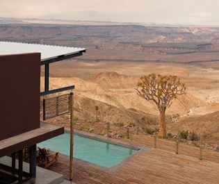 A glimpse of the view you will enjoy at Fish River Lodge