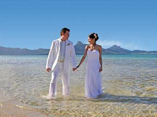 Bride and Groom at Preskil Island Resort