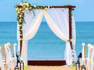 Beautiful beach wedding at Uga Bay